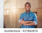 confident african designer... | Shutterstock . vector #417862876