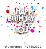 Happy Birthday To You Paper...