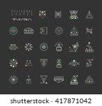 sacred geometry. set of minimal ... | Shutterstock .eps vector #417871042