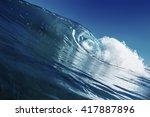shorebreak surfing tube wave....   Shutterstock . vector #417887896