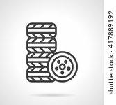 stack of tires for car....   Shutterstock .eps vector #417889192