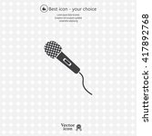 microphone icon | Shutterstock .eps vector #417892768