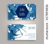 vector business card design... | Shutterstock .eps vector #417893836