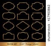 vintage style golden frames. | Shutterstock .eps vector #417903862