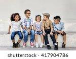 kids fun children playful... | Shutterstock . vector #417904786