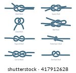 nautical rope knots | Shutterstock .eps vector #417912628