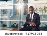 professional young african man... | Shutterstock . vector #417915085