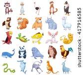 cat  dog  fish  etc. animal... | Shutterstock . vector #417916585