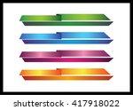 web   graphic lower third ... | Shutterstock . vector #417918022