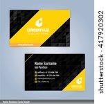 modern business card templates... | Shutterstock .eps vector #417920302