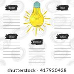 vector illustration of colorful ... | Shutterstock .eps vector #417920428