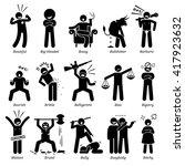 negative personalities... | Shutterstock . vector #417923632