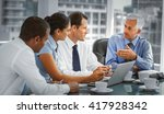 group of business people... | Shutterstock . vector #417928342