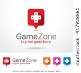 game zone logo template design... | Shutterstock .eps vector #417928885