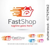 fast shop logo template design... | Shutterstock .eps vector #417929062
