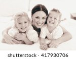 portrait of a happy mother and... | Shutterstock . vector #417930706