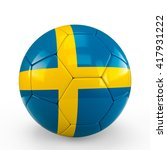 soccer ball covered with sweden ... | Shutterstock . vector #417931222