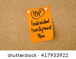 business acronym idp individual ...   Shutterstock . vector #417933922
