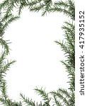 rosemary isolated on white... | Shutterstock . vector #417935152