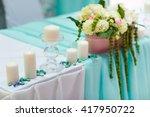 wedding table decorations in... | Shutterstock . vector #417950722