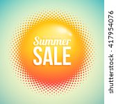 summer sale with abstract... | Shutterstock .eps vector #417954076