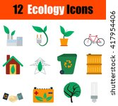 flat design ecology icon set in ...
