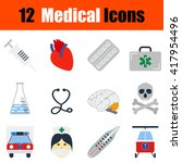 flat design medical icon set in ...