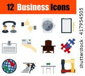 flat design business icon set... | Shutterstock .eps vector #417954505