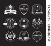 set of golf club logo templates.... | Shutterstock .eps vector #417954766