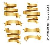 banner ribbon vector set...   Shutterstock .eps vector #417961156