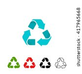 Recycling Symbols Set Isolated...