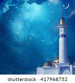 ramadan kareem background with... | Shutterstock . vector #417968752