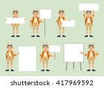 set of tourist characters... | Shutterstock .eps vector #417969592