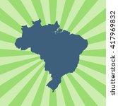 map of brazil | Shutterstock .eps vector #417969832