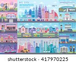big city infographic set with... | Shutterstock .eps vector #417970225