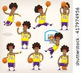set of basketball players on...