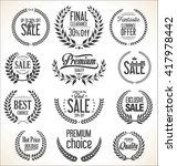 sale laurel wreaths collection | Shutterstock .eps vector #417978442