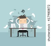 busy time of businessman in... | Shutterstock .eps vector #417980872