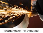 drill with diamond tipped... | Shutterstock . vector #417989302