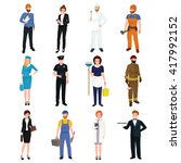 people different profession.... | Shutterstock .eps vector #417992152