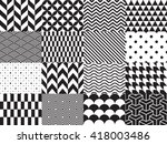 set of geometric background.... | Shutterstock .eps vector #418003486