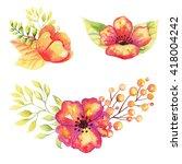 Watercolor Floral Elements...
