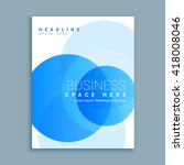 business cover page brochure... | Shutterstock .eps vector #418008046