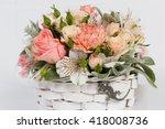 bouquet of flowers  | Shutterstock . vector #418008736