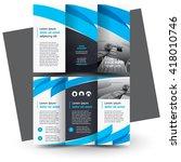 brochure design  business... | Shutterstock .eps vector #418010746