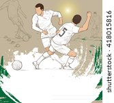 illustration of soccer players. ... | Shutterstock .eps vector #418015816