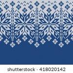 winter sweater design. seamless ... | Shutterstock .eps vector #418020142