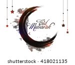 creative crescent moon made by... | Shutterstock .eps vector #418021135