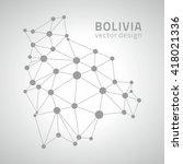 bolivia contour vector grey map | Shutterstock .eps vector #418021336