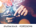 man sending e mail message to... | Shutterstock . vector #418026346